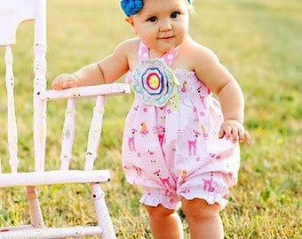 Shirred Bubble Romper Whimsy Couture Sewing Pattern Tutorial PDF preemie through 4t