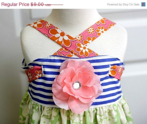 25% OFF SALE Whimsy Couture Sewing Pattern Tutorial ebook TIE Band Knot Top/Dress sizes nb through 12 girls Pdf