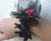 Black Thorns and Rose Bracelet