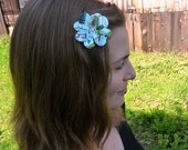 Funky Flower Hair Clip made from a recycled soda can