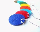 Recycled Plastic Bottle Small Round Earrings U Pick Your Colors  2 PAIRS