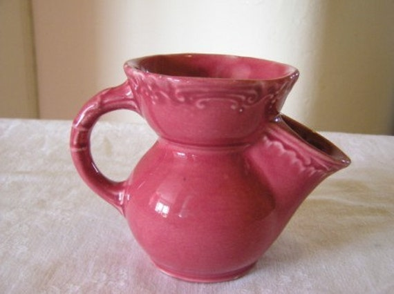 Vintage Mens Art Nouveau Pottery Shaving Mug 1930 S