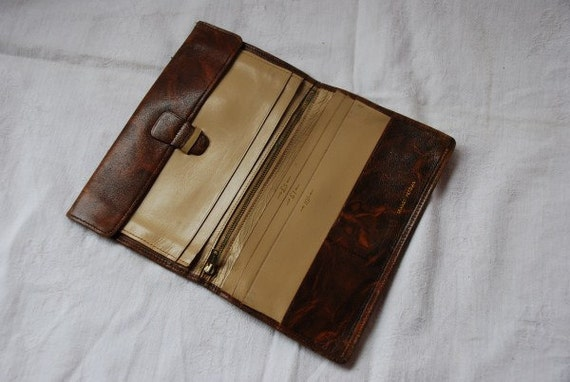 Vintage Brown Leather Wallet 1940's