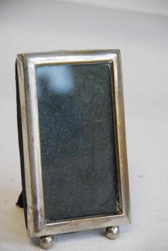 Vintage Art Deco Silver Platinoid Miniature Picture Photo Frame 1930's