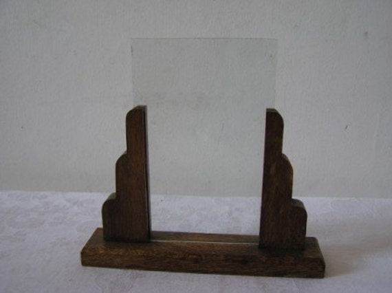 Antique Art Deco Wooden Picture Frame 1920 S