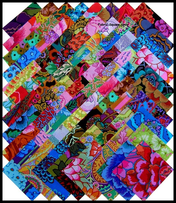 kaffe fassett kaleidoscope fabric squares kit by materialgirlchic