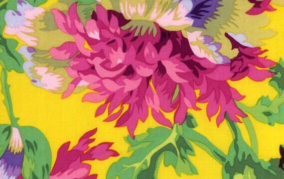 Half yard philip jacobs garden party yellow hdpj01 home dec for Garden party fabric by blackbird designs