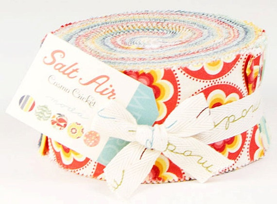 """Cosmo Cricket SALT AIR Jelly Roll 2.5"""" Fabric Quilting Strips Moda 37020JR"""