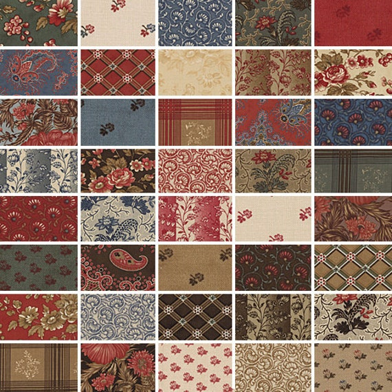 """Howard Marcus COLLECTIONS COMFORT 5"""" Charm Pack Fabric Quilting Squares Moda 46110PP"""