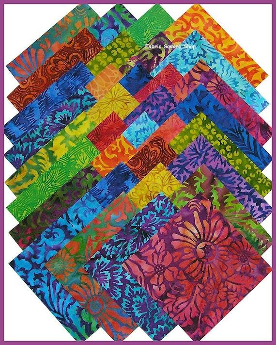 Benartex Silhouette Batik Quilt Fabric 5 Inch Squares Kit