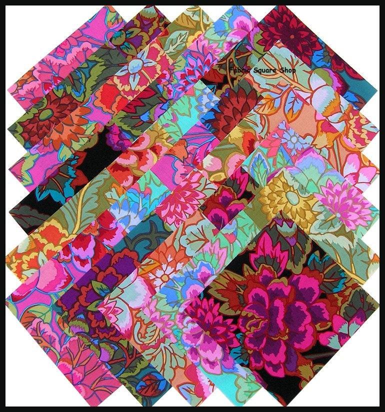 Kaffe Fassett Cloisonne Fabric Squares Quilt Kit