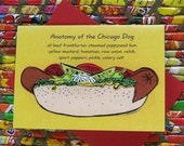 Chicago Dog-note card