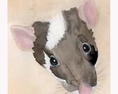 Benny Greenfield, beige background, Foldover Notecard