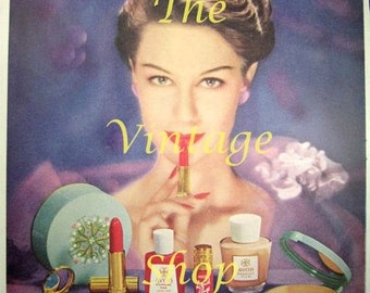 Avon Makeup Beauty..1950s Vintage Advertising E128