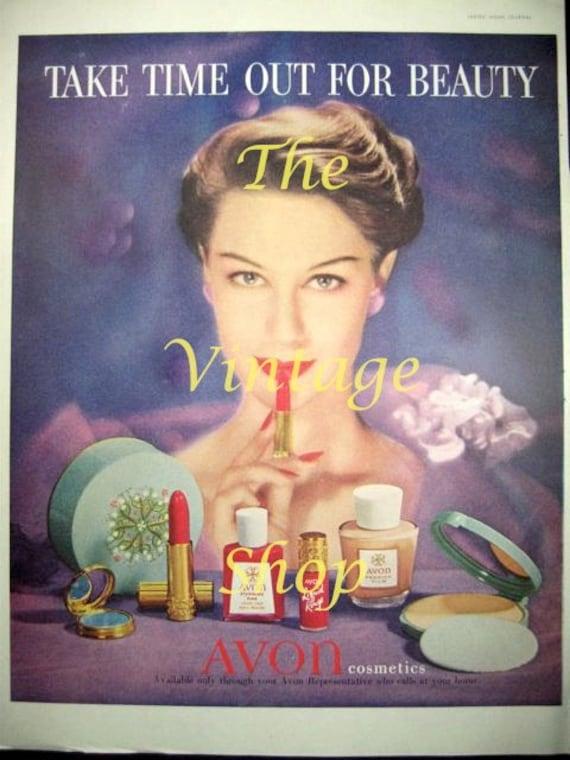 Avon Makeup Beauty..1950s Vintage Advertising E106