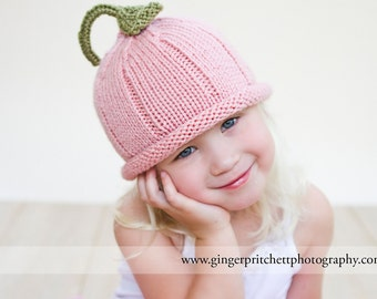 Pink Pixie Hat Knitted 4 sizes available Photography Prop