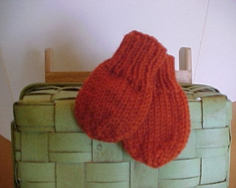Knitted Mittens Thumbless  Nb to 3mo 3 to 6 months 6 to 12 months Your choice of colors