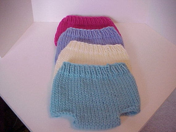 Diaper Covers  Knitted Newborn Choose your color.
