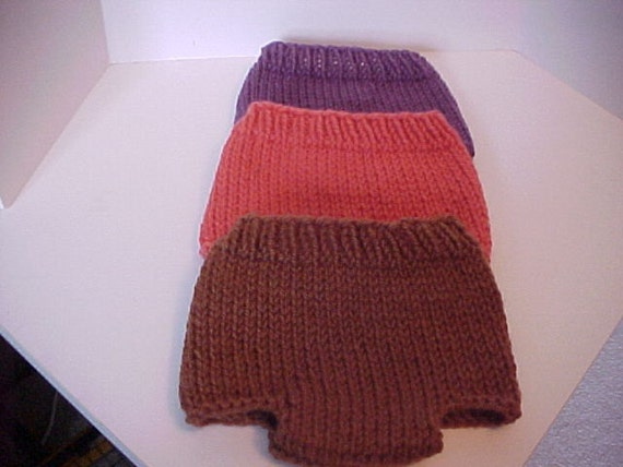 Diaper Covers Newborn and 6 to 12 months Knitted  Fall Colors