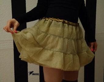 Gold creme tutu skirt, show girl, tutu skirt, gold tutu skirt, creme tutu, crinoline, creme skirt, gold skirt, steampunk tutu skirt MASQ