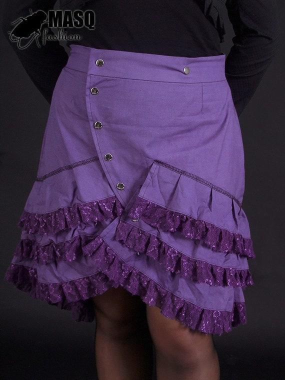 sale MASQ Violet cabaret skirt with ruffles XL 2XL XXL plus size