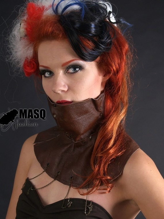 MASQ Steamtech Brown steampunk leather fetish face mask