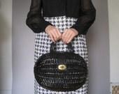 vintage Italian straw oval bag