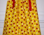 SALE Pillowcase Dress LADYBUGS Yellow Red 3m 6m 12m 18m