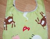 Baby Bib FARM ANIMALS Citrine Girl or Boy Custom Boutique