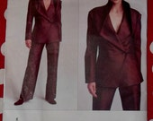 OOP  Issey Miyake Designer Original Jacket and Pants, Vogue 2687 Pattern Plus Size 6 8 10, 12 14 16, or 18 20 22, Uncut