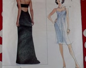Vera Wang Designer Misses' Lined Dress - Gown Vogue 2257 Pattern,  Sizes 8 10 12,  or 14 16 18, Uncut