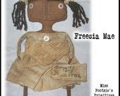 Freesia Mae- Primitive Folk Art Doll -Simplify and Pray-