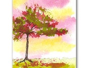 """ACEO Original Watercolor Painting """"Blush"""" by Penny King"""