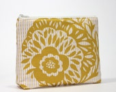 Gold Crush Divided Cosmetic Bag- 2 Compartments