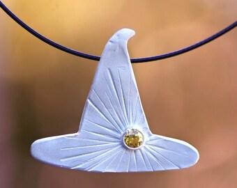 sun magic, fine silver pendant, pmc, precious metal clay