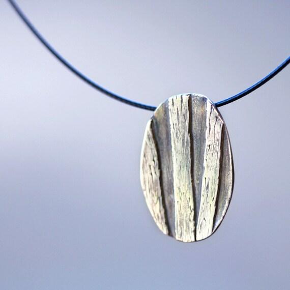 wildwood, pendant, fine silver, pmc, precious metal clay