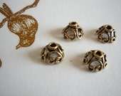 Pewter Bead Caps - Lead and Nickel Free - 12mm