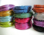 Aluminum Wire - 18 Gauge - 12 Color Coils Included with Priority Shipping