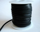Black Deerskin Lace - 50 Foot Spool