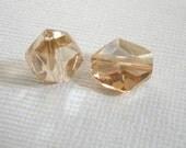Swarovski Crystal Golden Crystal Shadow - 12mm -   Article 5523 - Cosmic Bead