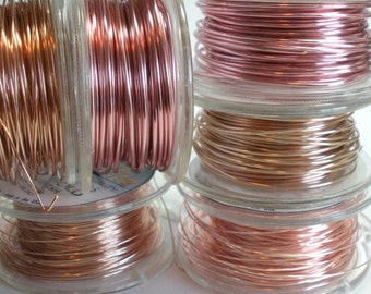 28 Gauge Rose Gold Wire 45 Feet - Pink Wire for Jewelry Making