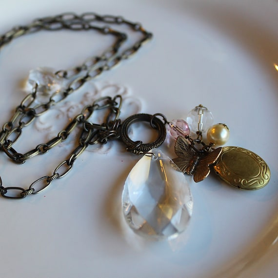 Collier - Chandelier Crystal with Locket