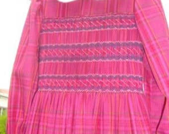 Size 4/5 Hand Smocked Winter Dress