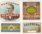 26 1920s Plus Different EMBOSSED Plus UNUSED Cigar Box LABELS.