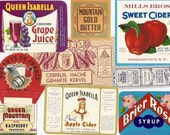 41 different 1930'S PLUS product labels soda,beer,cigar,wine,cheese,fish,tobacco,etc