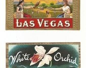 11 1930's Plus Different Unused CIGAR BOX  And TOBACCO Labels Traveler, White Orchid, Las Vegas , Our Kitties  Etc...