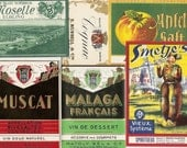 41 different Old 1930's plus  European WINE & LIQUOR LABELS
