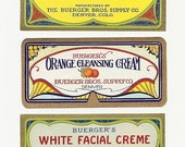 27 Different 1920s plus  BEAUTY,COSMETICS,French PERFUME Soap,Witch Hazel Labels Etc