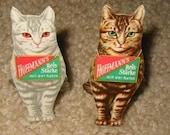 2 1930s Diecut Standup Hoffmanns Starch CATS