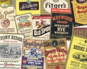 60 Different Old 1930s plus WHISKEY\/Gin\/VODKA\/Brandy/Rye\/Beer\/LIQUOR Labels